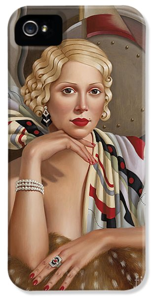 Glamorous iPhone 5 Cases - La Femmeen Soiehi  iPhone 5 Case by Catherine Abel