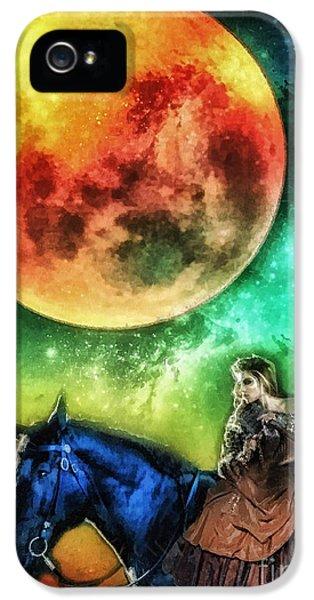 Mo T iPhone 5 Cases - La Luna iPhone 5 Case by Mo T