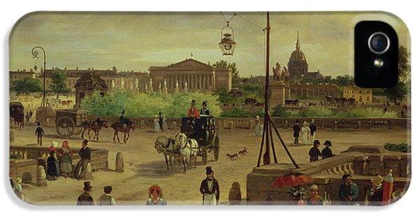 Restoration iPhone 5 Cases - La Place de la Concorde iPhone 5 Case by Giuseppe Canella