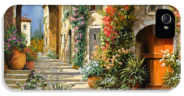 Romantic iPhone 5 Cases - La Porta Rossa Sulla Salita iPhone 5 Case by Guido Borelli