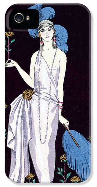 'la Roseraie' Fashion Design For An Evening Dress By The House Of Worth IPhone 5 / 5s Case by Georges Barbier