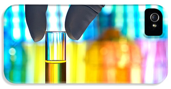 Laboratory iPhone 5 Cases - Laboratory Test Tube in Science Research Lab iPhone 5 Case by Olivier Le Queinec