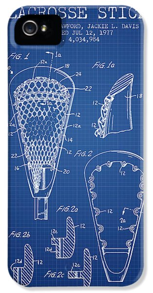 Blueprint iPhone 5 Cases - Lacrosse Stick Patent from 1977 -  Blueprint iPhone 5 Case by Aged Pixel
