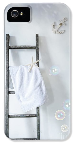 Ladder iPhone 5 Cases - Ladder With Towel iPhone 5 Case by Amanda And Christopher Elwell