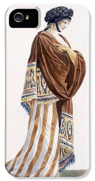 Ladies Dress With Velvet Shawl IPhone 5 / 5s Case by Pierre de La Mesangere