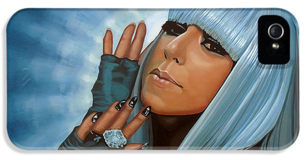 Lady Gaga Painting IPhone 5 / 5s Case by Paul Meijering