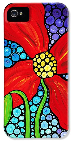 Poppy iPhone 5 Cases - Lady In Red - Poppy Flower Art by Sharon Cummings iPhone 5 Case by Sharon Cummings