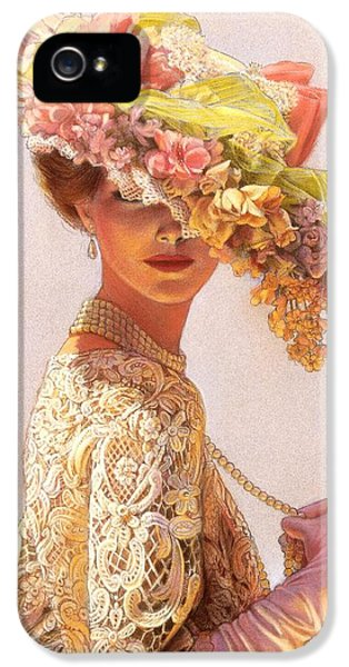 Pastel iPhone 5 Cases - Lady Victoria Victorian Elegance iPhone 5 Case by Sue Halstenberg