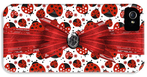 Ladybug Obsession  IPhone 5 / 5s Case by Debra  Miller