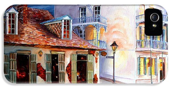 City Scene iPhone 5 Cases - Lafittes Guest House on Bourbon iPhone 5 Case by Diane Millsap