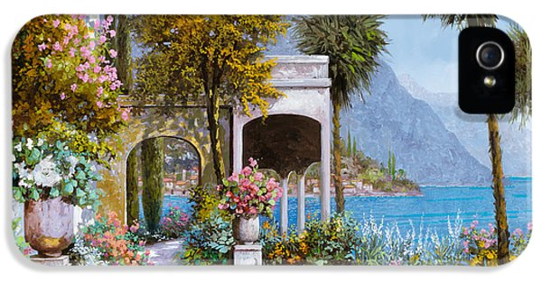 Lake iPhone 5 Cases - Lake Como-la passeggiata al lago iPhone 5 Case by Guido Borelli