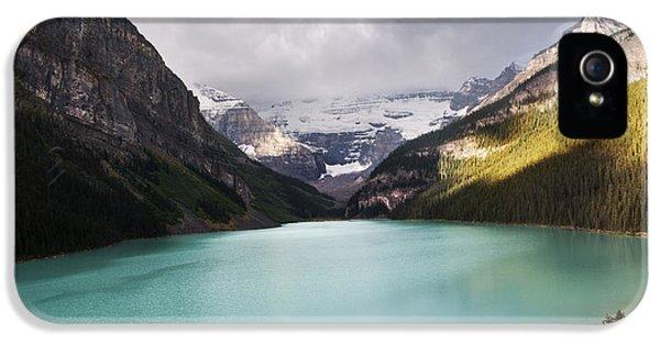 Lake iPhone 5 Cases - Lake Louise panorama iPhone 5 Case by Yuri Santin