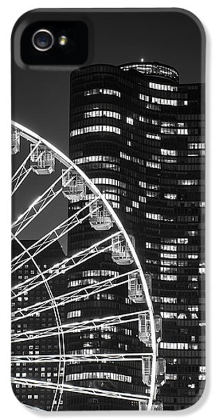 Light iPhone 5 Cases - Lake Point Tower iPhone 5 Case by Sebastian Musial