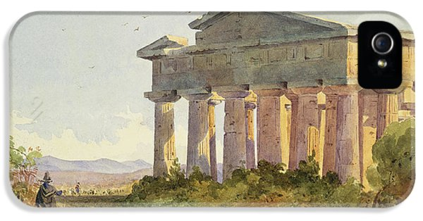 Ruins iPhone 5 Cases - Landscape at Paestum iPhone 5 Case by Arthur Glennie