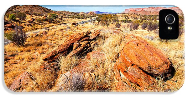 Mcdonnell iPhone 5 Cases - Larapinta Drive West McDonnell Ranges iPhone 5 Case by Bill  Robinson