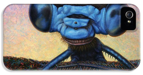 Bug iPhone 5 Cases - Large Damselfly iPhone 5 Case by James W Johnson