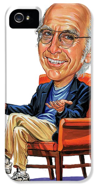 Famous People iPhone 5 Cases - Larry David iPhone 5 Case by Art