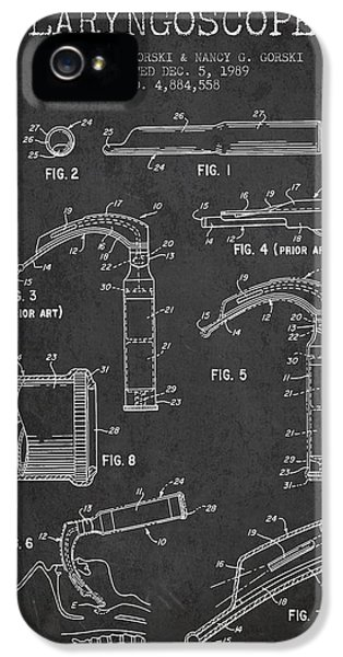 Medical iPhone 5 Cases - Laryngoscope Patent from 1989 - Dark iPhone 5 Case by Aged Pixel