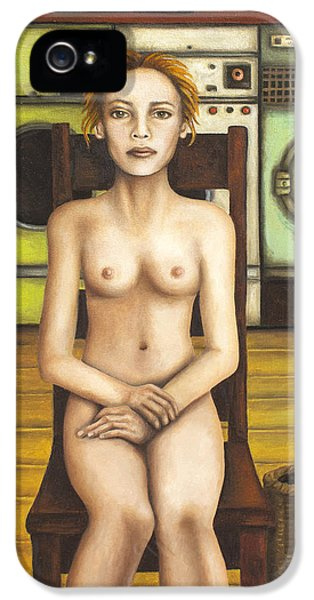 Laundry Day 5 IPhone 5 / 5s Case by Leah Saulnier The Painting Maniac