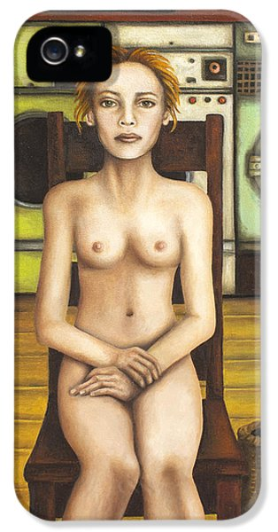 Nudity iPhone 5 Cases - Laundry Day 5 iPhone 5 Case by Leah Saulnier The Painting Maniac