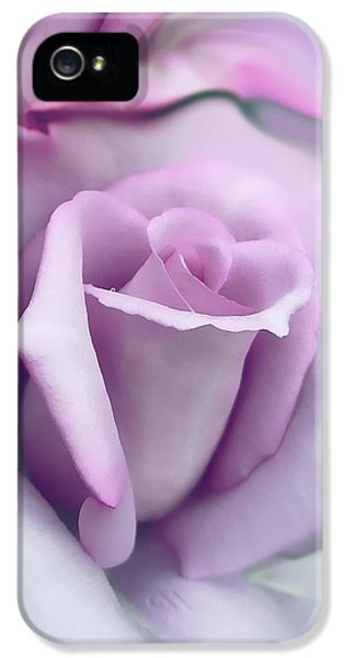 Blooms iPhone 5 Cases - Lavender Rose Flower Portrait iPhone 5 Case by Jennie Marie Schell