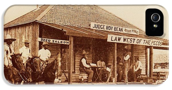 Law West Of The Pecos IPhone 5 / 5s Case by Pg Reproductions