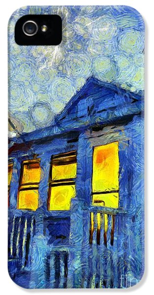 Lazy Daze Beach Cottage On Fourth Of July IPhone 5 / 5s Case by Edward Fielding