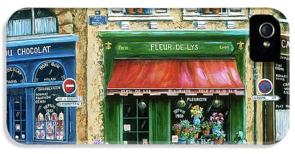 Street Scene iPhone 5 Cases - Le Fleuriste iPhone 5 Case by Marilyn Dunlap