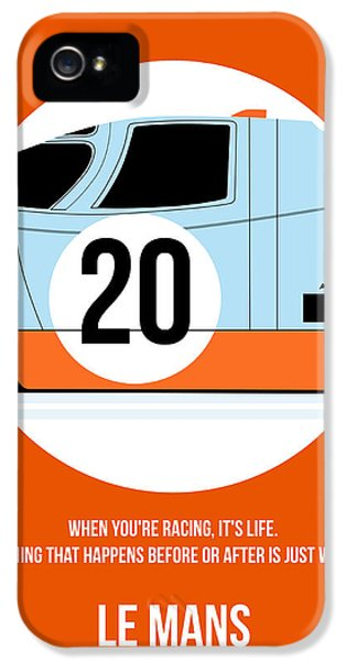 Tv Show iPhone 5 Cases - Le Mans Poster 2 iPhone 5 Case by Naxart Studio