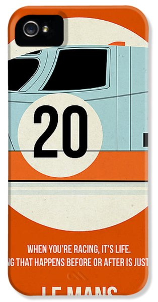 Tv Show iPhone 5 Cases - Le Mans Poster iPhone 5 Case by Naxart Studio