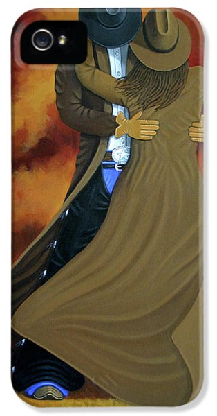 Painter iPhone 5 Cases - Lean On Me iPhone 5 Case by Lance Headlee