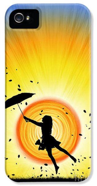 Umbrella iPhone 5 Cases - Learning to Fly iPhone 5 Case by Tim Gainey