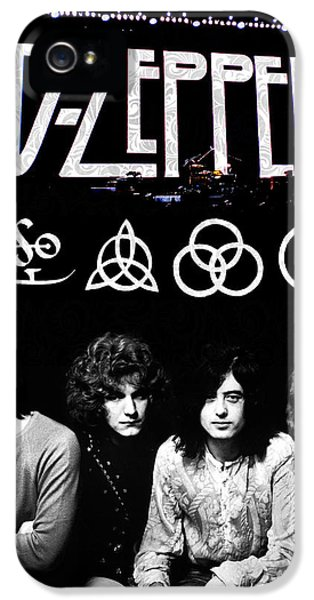 Rock And Roll iPhone 5 Cases - Led Zeppelin iPhone 5 Case by FHT Designs