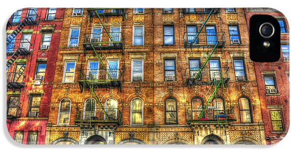 Nyc iPhone 5 Cases - Led Zeppelin Physical Graffiti Building in Color iPhone 5 Case by Randy Aveille