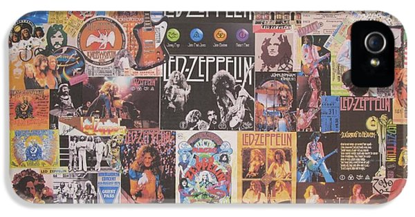 Led Zeppelin Years Collage IPhone 5 / 5s Case by Donna Wilson