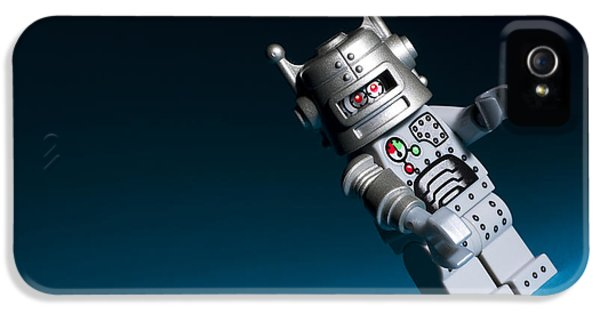 Cyborg iPhone 5 Cases - Lego Robot iPhone 5 Case by Samuel Whitton