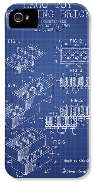 Blueprint iPhone 5 Cases - Lego Toy Building Brick Patent from 1961 - Blueprint iPhone 5 Case by Aged Pixel