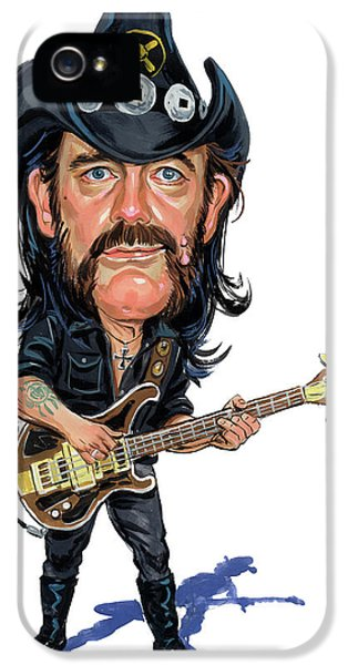 Laughing iPhone 5 Cases - Lemmy Kilmister iPhone 5 Case by Art
