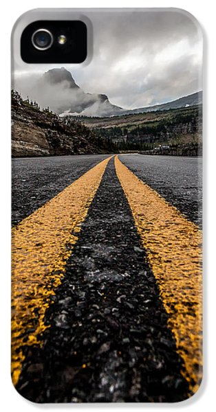 Point Of View iPhone 5 Cases - Less Traveled iPhone 5 Case by Aaron Aldrich