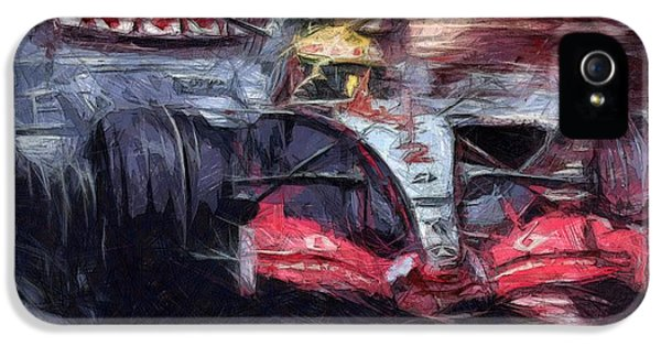 Schumi iPhone 5 Cases - Lewis iPhone 5 Case by Tano V-Dodici ArtAutomobile
