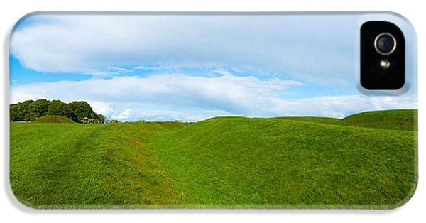 Social History iPhone 5 Cases - Lia Fail Stone On A Hill, Hill Of Tara iPhone 5 Case by Panoramic Images