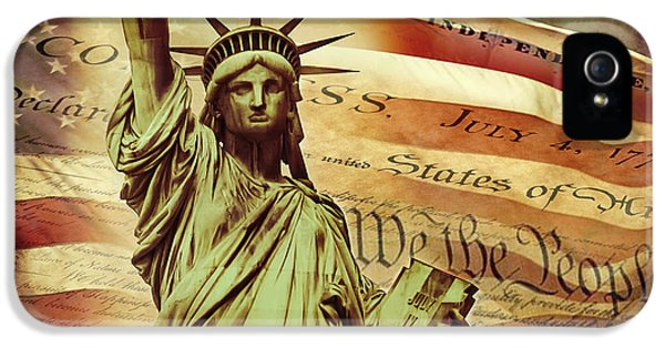 July 4th iPhone 5 Cases - Declaration Of Independence iPhone 5 Case by Az Jackson