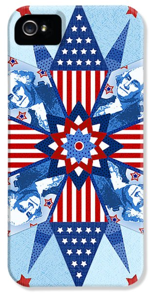 Stars And Strips iPhone 5 Cases - Liberty Quilt iPhone 5 Case by Valerie   Drake Lesiak