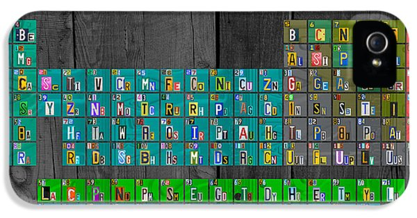 Laboratory iPhone 5 Cases - License Plate Art Recycled Periodic Table of the Elements by Design Turnpike iPhone 5 Case by Design Turnpike
