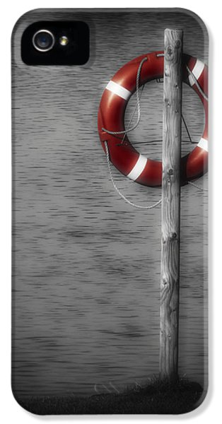 Thriller iPhone 5 Cases - Life Buoy iPhone 5 Case by Wim Lanclus