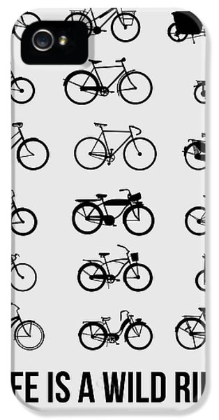 Wise iPhone 5 Cases - Life is a Wild Ride Poster 1 iPhone 5 Case by Naxart Studio