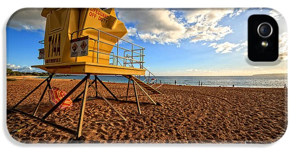 Shack iPhone 5 Cases - Lifeguard Off Duty Maui Hawaii iPhone 5 Case by Edward Fielding