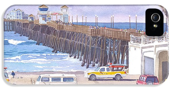 Lifeguard Trucks At Oceanside Pier IPhone 5 / 5s Case by Mary Helmreich