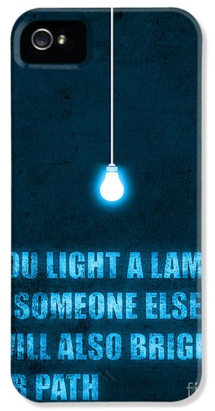 Typography iPhone 5 Cases - Light a lamp iPhone 5 Case by Budi Kwan