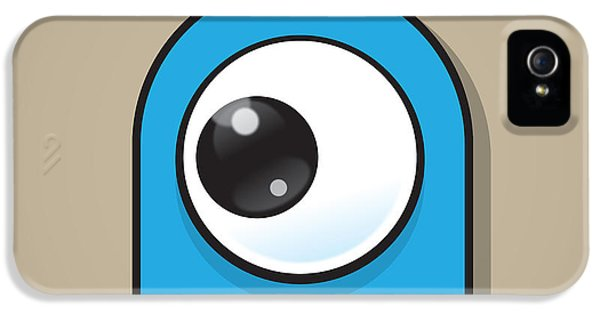 Eyeball iPhone 5 Cases - Light Blue iPhone 5 Case by Samuel Whitton